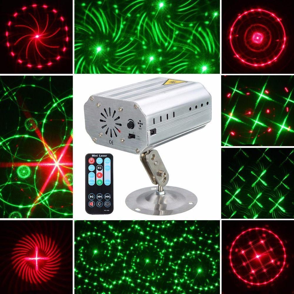 Aimbinet Etapa Luces Láser 12 Patrones Partido LED Proyector Proyector con Control Remoto Auto/Sonido Activado para Discoteca DJ Club