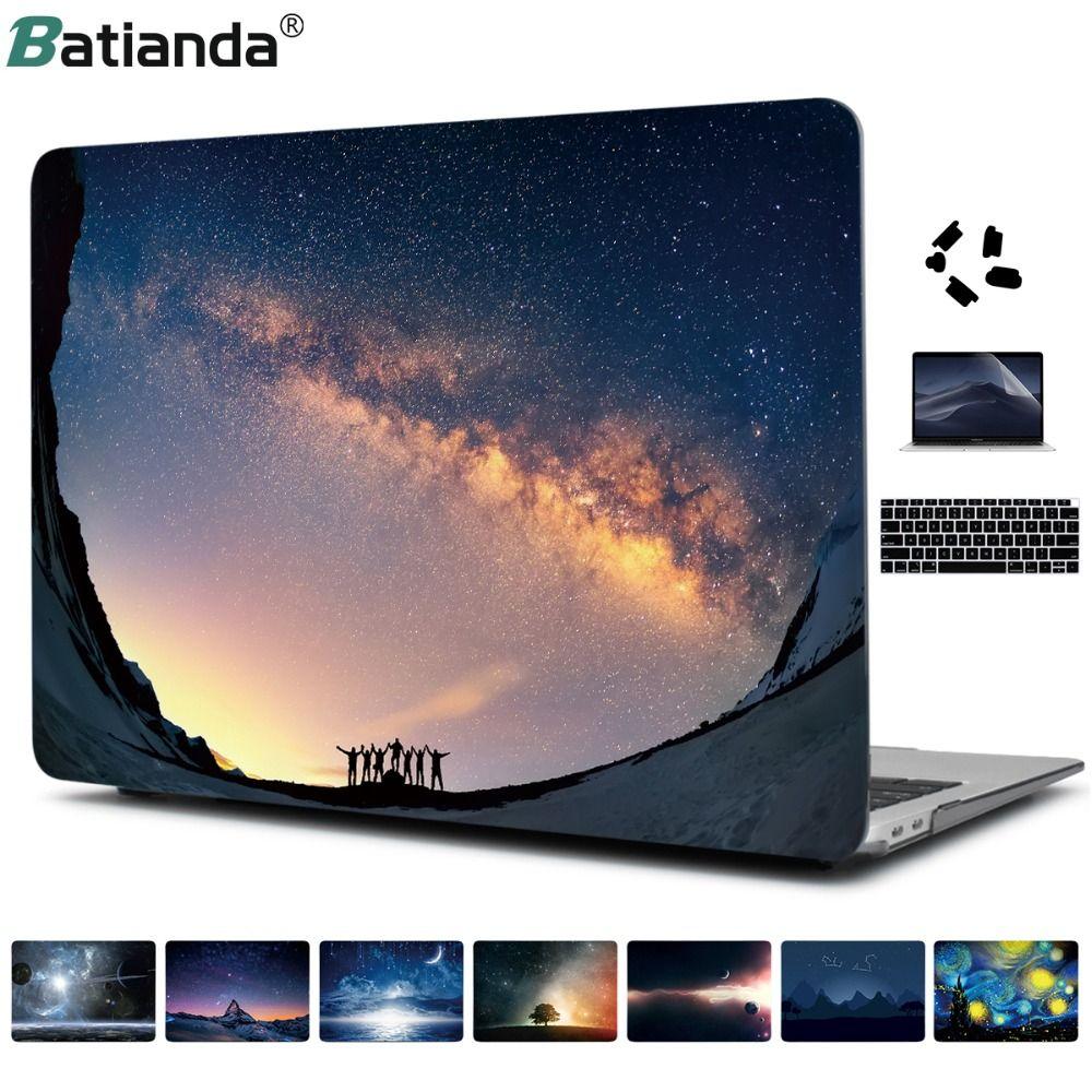 Impression cristal clair étui rigide pour 2016 2017 2018 2019 nouveau Macbook Pro Retina 13 15 A1706 A1989 tactile Bar couverture Air 11 13.3 pouces