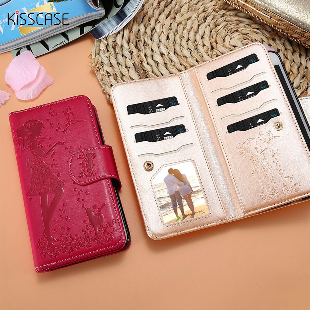 KISSCASE Pour Samsung Galaxy S8 S7 Bord Cas En Relief Robe Fille Cas de miroir Pour Samsung Galaxy S8 Plus S7 Téléphone Sac Cas