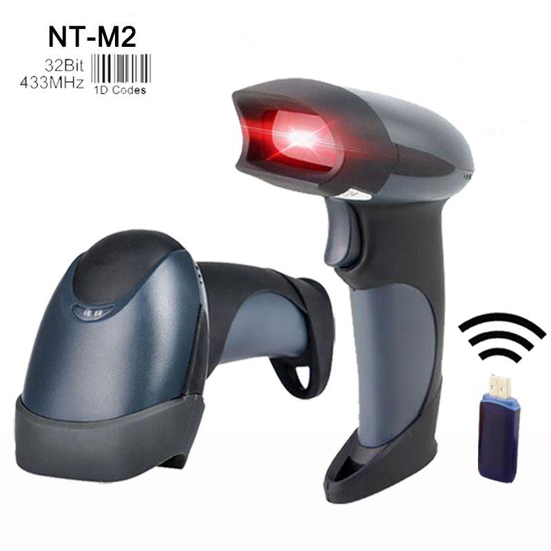 En gros 433 MHz scanners portables lecteur de codes à barres sans fil haute qualité laser lecteur de codes à barres pos scanner de codes à barres pour le marché