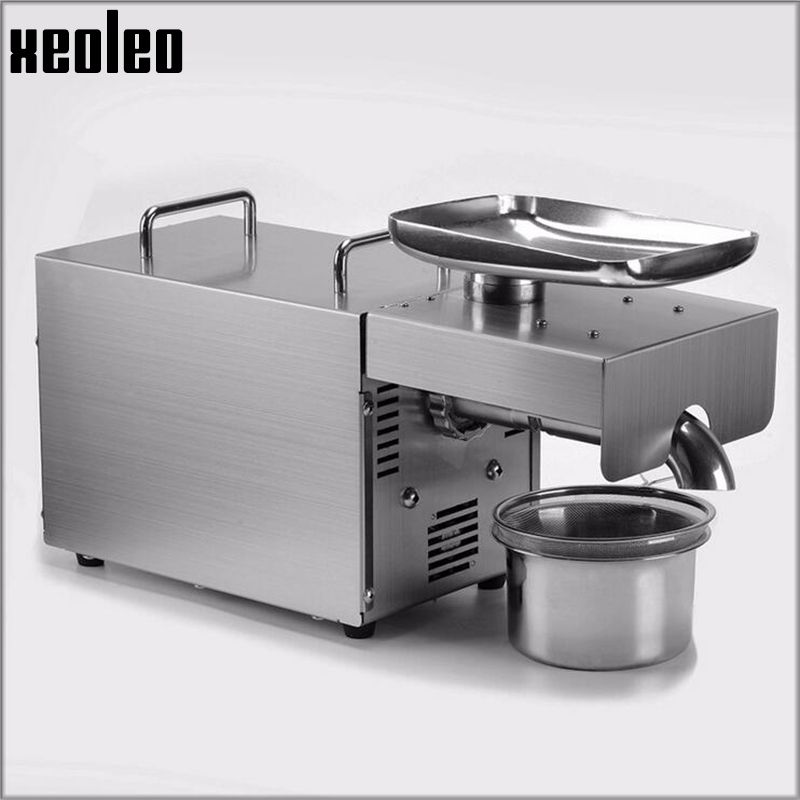 Xeoleo Oil press machine Oil presser Olive Oil machine Stainless steel Cold&Hot 750W suitable for almond/Peanut Household