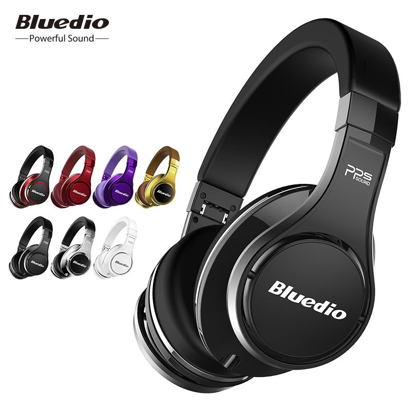 Bluedio U(UFO)High-End Bluetooth headphone Patented 8 Drivers/3D Sound/<font><b>Aluminum</b></font> alloy/HiFi Over-Ear wireless headphone