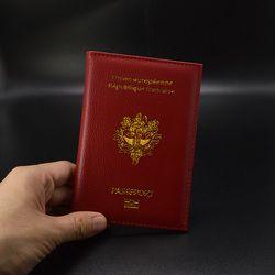 Belle Pu Souple En Cuir Français Femmes Passeport Couverture Rose Mignon Passeport Couvre pour Passeports Francais Filles Pasport Cas pour Voyage