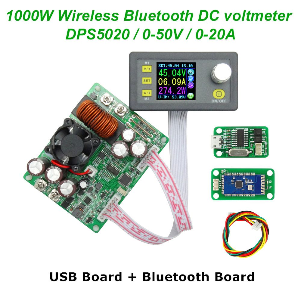 DC 50V 20A DPS5020 Constant Voltage current Step-down communication digital Power Supply buck Voltage converter LCD voltmeter