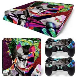 Free Drop Shipping JokerMan Decal Skin for Ps4 Slim console Cover For Playstaion 4 Console PS4 Slim Skin Stickers