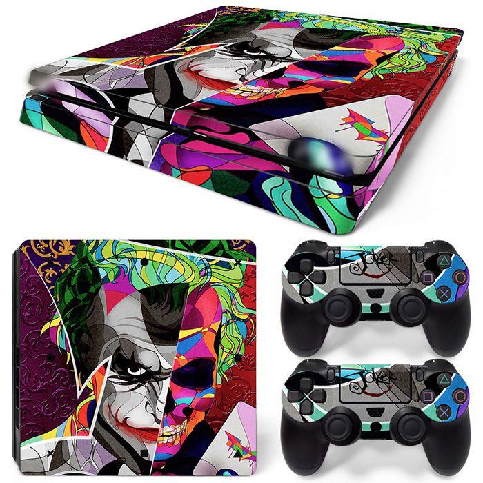 Freier Tropfen-verschiffen JokerMan Aufkleber Haut für Ps4 Slim konsole Abdeckung Für Playstaion 4 Konsole PS4 Slim Haut Aufkleber