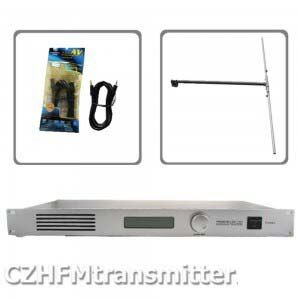 50W CZH CZE-T501 FM transmitter 0-50w power adjustable radio broadcaster RDS port 1/2 DIPOLE ANTENNA kit