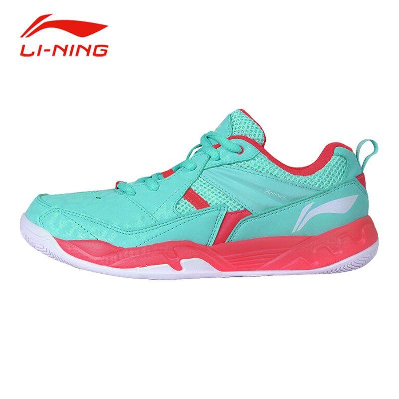 Li Ning Frauen Stabilität Unterstützung Badminton Schuhe Rutschfeste Atmungsaktive Polsterung Turnschuhe Original Li Ning Sportschuhe AYTM072