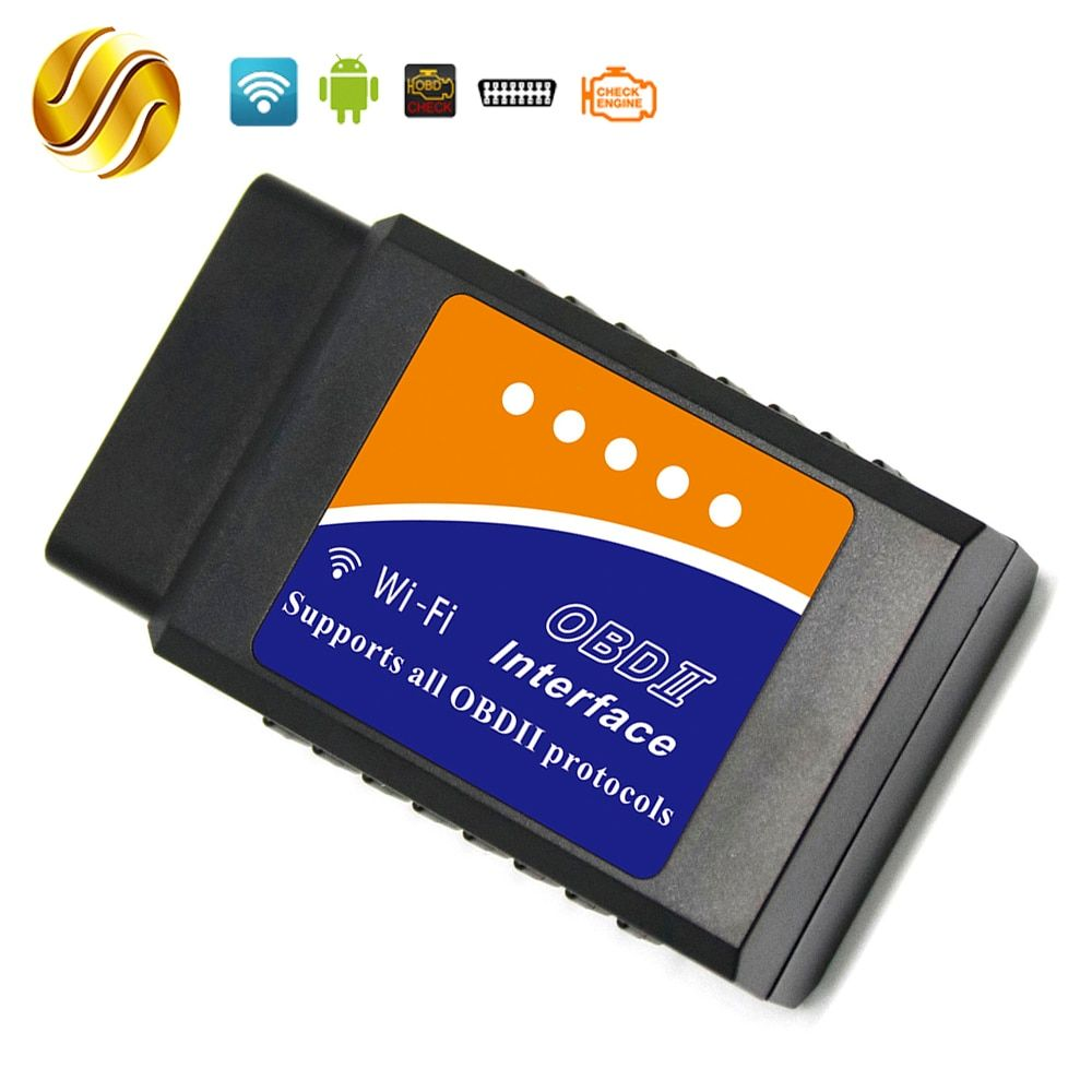 Viecar ELM327 WIFI OBDII / OBD2 V1.5 ELM 327 PIC18F25K80 Version 1.5 for Windows Android IOS Torque Car Scanner Auto Code Reader