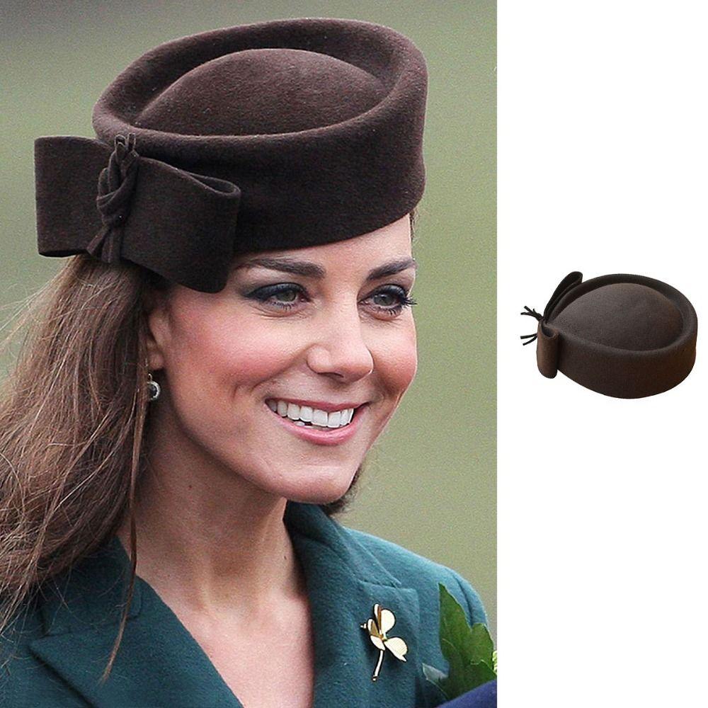 Fedoras chapeau femmes Fascinator chapeau larme dôme Top Bowknot fantaisie laine pilulier chapeau pour dame Cocktail course fête mariage église