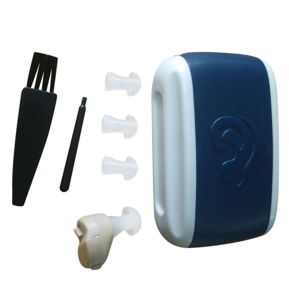 Hot Sale Small Portable In-Ear Voice Sound Amplifier Adjustable Tone Mini Hearing Ear Aid Health Care Long Lasting lightweight