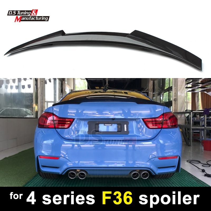 F36 New M4 style carbon fiber rear trunk wings spoiler for bmw 4 series gran coupe 4-door 2014 + 420i 428i 435i