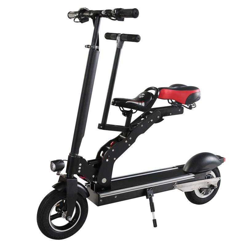 10-zoll elektrische fahrräder lithium-batterien Klapp erwachsene mit kinder sitze Mini-generation reise roller Elektrische scoote