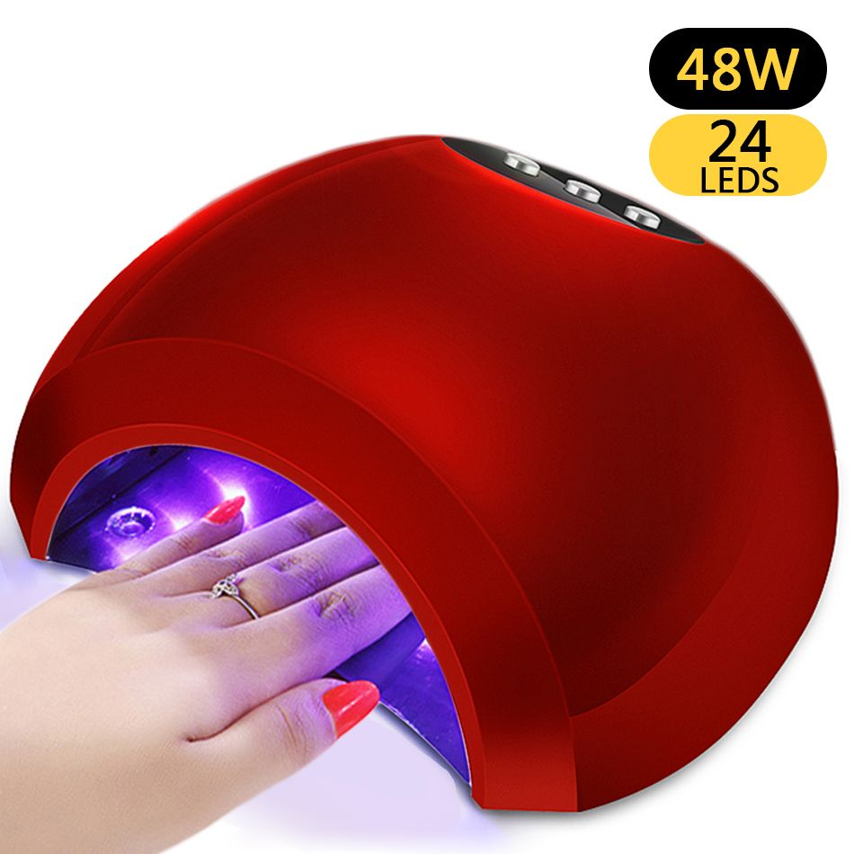 ROHWXY 48W UV Lamp Gel LED Nail Lamp High Power For Nails All Gel Polish Nail Dryer Sensor Sun Led Light Nail Art Manicure Tools