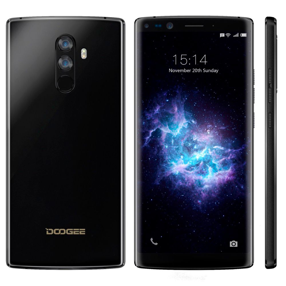 DOOGEE Mix 2 Android 7.1 Smartphone 4060mAh 5.99'' FHD Helio P25 Octa Core 6GB RAM 64GB ROM 4G Cellphone 4 Cameras 2160 x 1080px