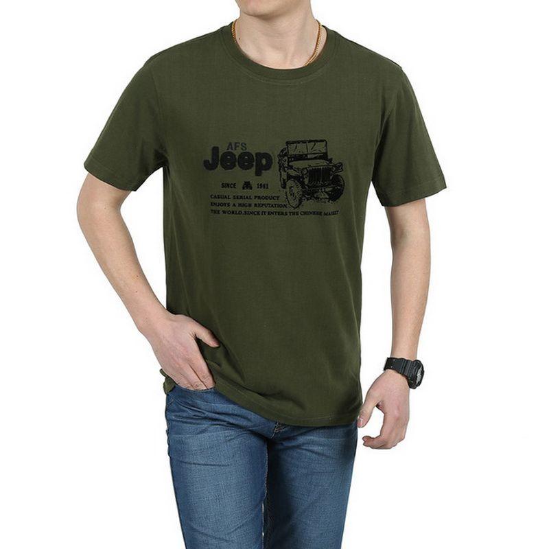 Élastique coton T-Shirt hommes été AFS JEEP marque vêtements décontracté 3D T-Shirts armée tactique T-Shirt Style militaire T-Shirt, UMA012