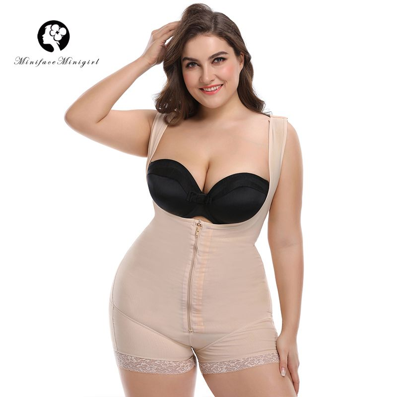 Minifaceminigirl Hot Lace Slimming Body Shaper Feminino Bodysuit Modeling Strap Underwear Women Bodysuit 6XL Plus Size Shapewear