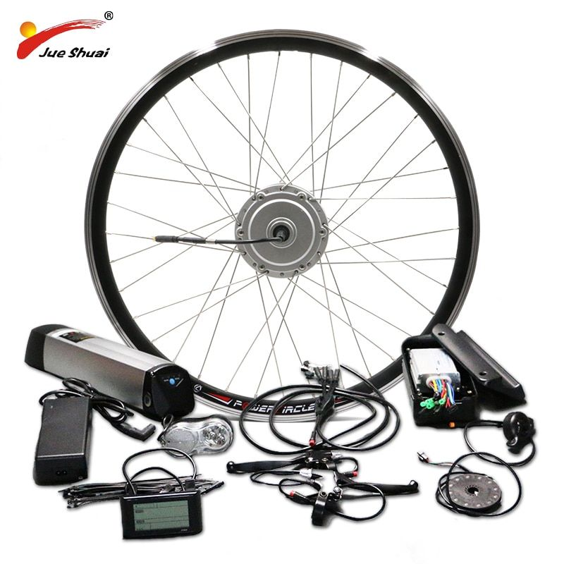BAFANG Motor Wheel 36V 250W 350W 500W Electric Bike Conversion Kit with 36V 10AH 12AH Lithium Battery 26