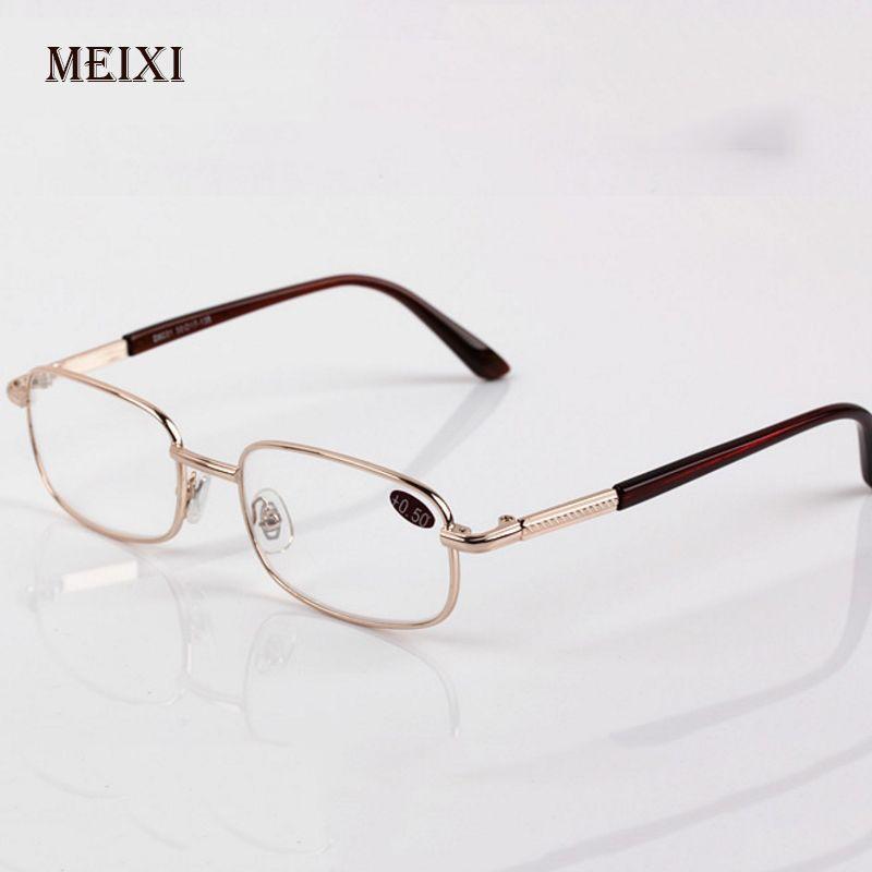 Men Women Reading Glasses Glass Lenses Presbyopia Alloy Frame Unisex Eyewear +0.5+0.75+1.25+1.75+2.25+2.75+3.25+3.75