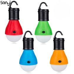 Мини портативный фонарь тент светодиодный светильник аварийная лампа водонепроницаемый подвесной крючок походный фонарик 4 цвета использ...