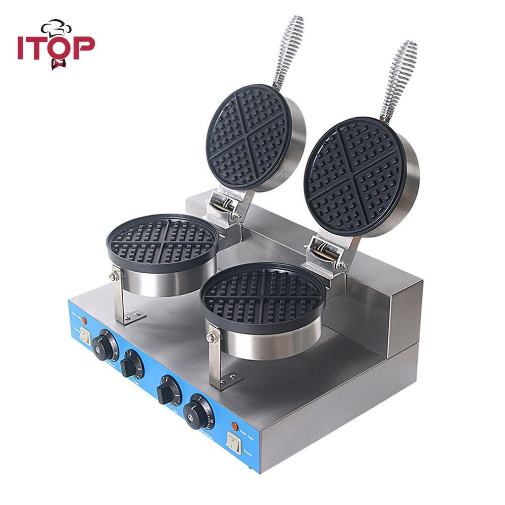 ITOP Professionelle Kommerzielle Elektrische waffel maker maschine, 2000 watt Nicht-stick Waffel Bäcker blase Kuchen Ofen Maschine 220 v