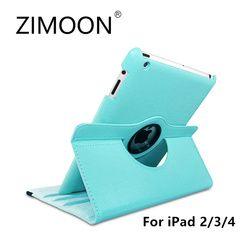 Zimoon Cas Pour Apple ipad 2 3 4 Magnétique Auto Réveil Up Sommeil Flip Litchi Housse En Cuir Avec Support À Puce