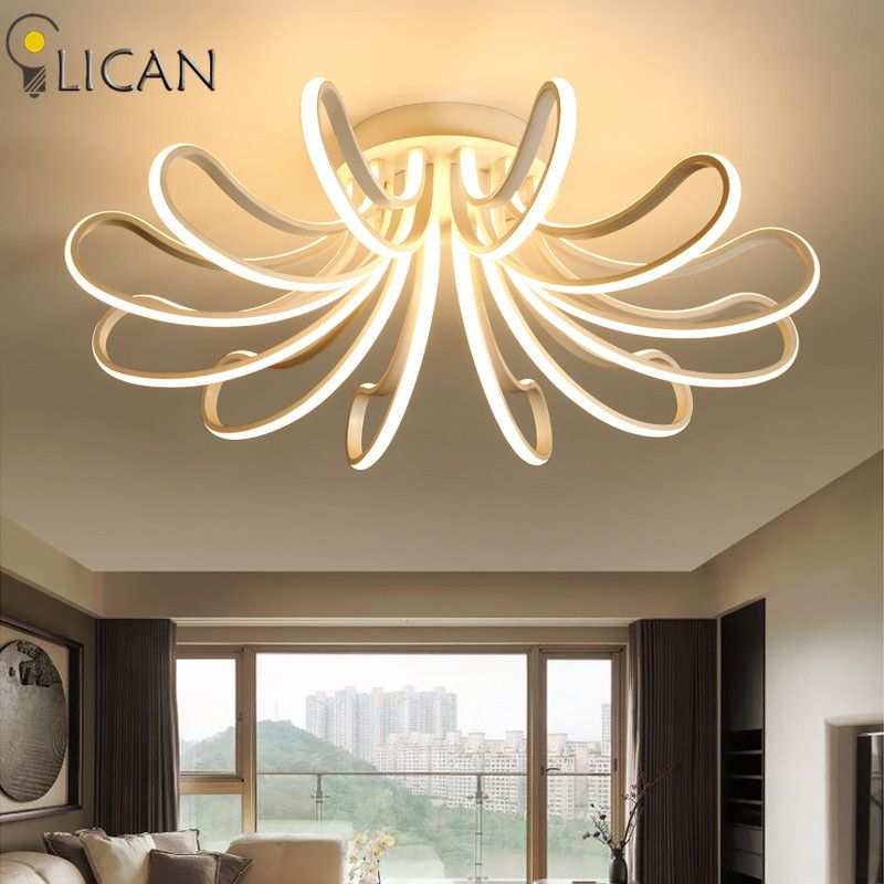 LICAN 2017 New Modern Ceiling Lights for living room Bedroom Remote control and dimming 110V 220V Luminarine LED Ceiling lamp