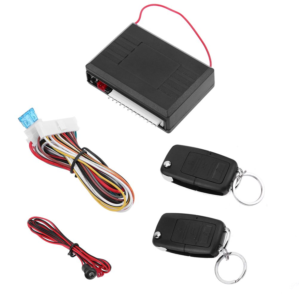Universal Car Alarm Systems 12V Auto Remote Central Kit Door Lock Locking Vehicle Keyless Entry System With Remote Controllers