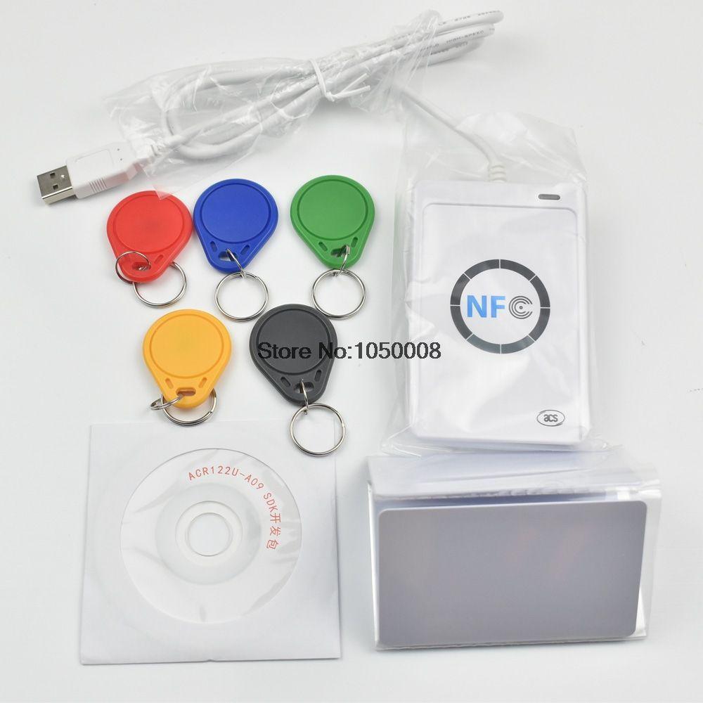 ACR122u NFC Reader Writer 13.56Mhz RFID Copier Duplicator + 5pcs UID Card + 5pcs UID Tag +SDK + M-ifare Copy Clone Software