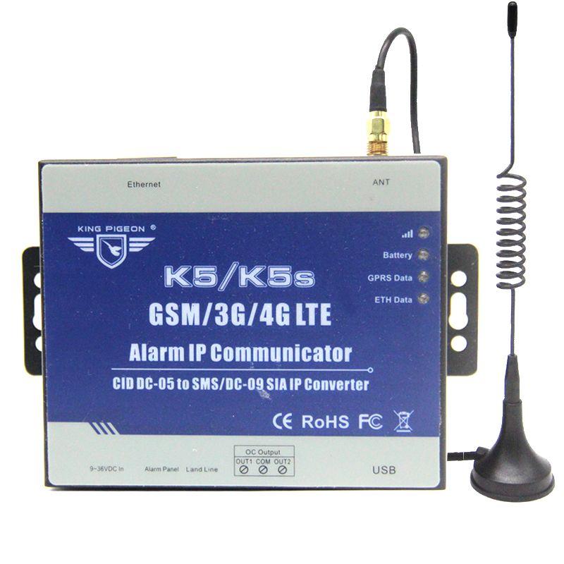 Communitcator GSM 3G pour convertir le panneau de commande d'identification de Contact PSTN Ademco en alerte SMS et IP SIA sur le réseau GPRS K5