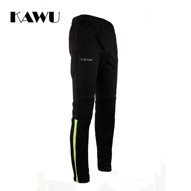 Kawu Спорт Бег Брюки с карманами на молнии для бега Homme survetement Футбол Обучение 6XL мужские штаны S17004