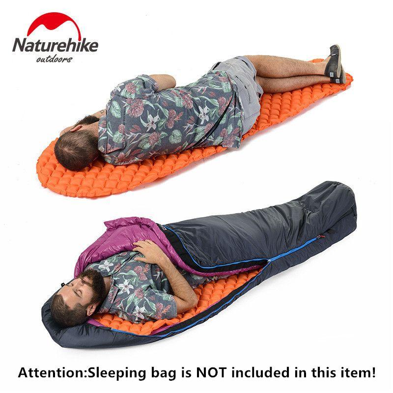 Outdoor Super Light Inflatable Cushion Tent Ultralight Mummy Moistureproof Single Sleeping Pad Aerated Mats for sleeping bag