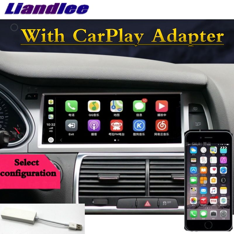 Für Audi A6 A6L 2004 ~ 2011 Liandlee Auto Multimedia Player NAVI Zubehör Radio Stereo CarPlay Adapter GPS Bildschirm Navigation