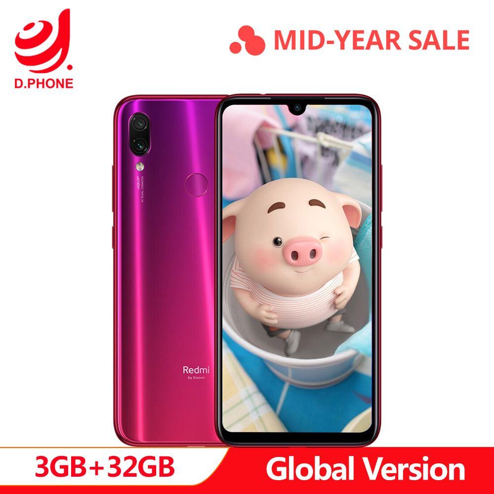 Global Version xiaomi Redmi Note 7 3GB RAM 32GB ROM cellphone Snapdragon 660 Octa Core 6.3