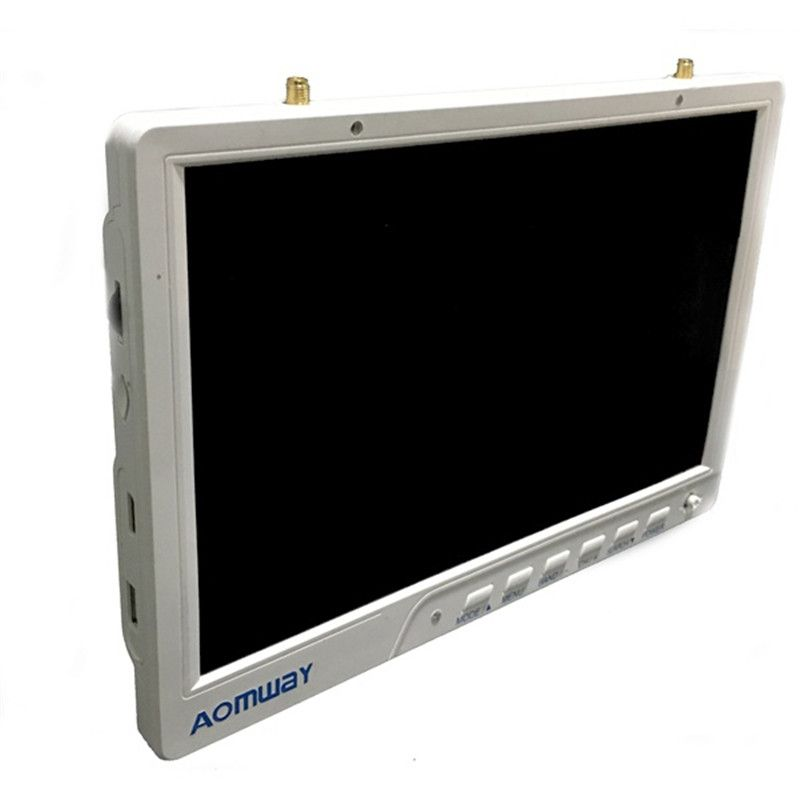 Aomway HD588 10 Inch 5.8G 40CH Diversity FPV HD Monitor 1920 x1200 with DVR Build in Battery For FPV Multicopter