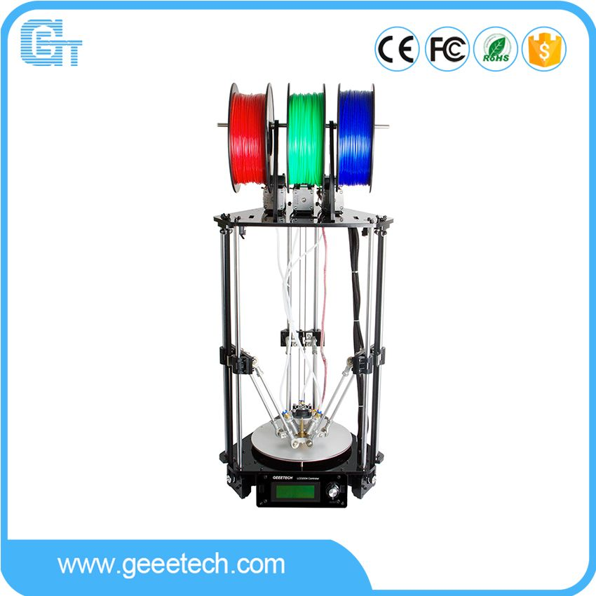 Geeetech Rostock 301 3D Printer 3-in-1-out Extruder Delta Newest Design Diamond High Resolution Impressora