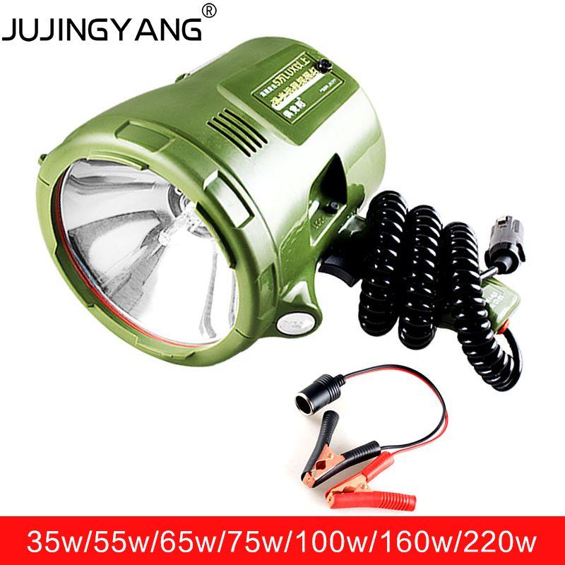 Projecteur marin 220 w, projecteur HID 160 W, lampe xénon 12 v 100 W, projecteur portable 35 W/55 W/65 w/75 w pour voiture, chasse, camping, bateau,