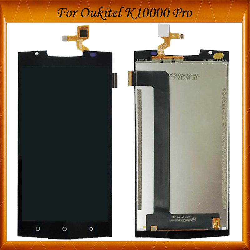 For Oukitel K10000 Pro LCD Display+Touch Screen 100% Tested OK LCD Digitizer Assembly Glass Panel Replacement