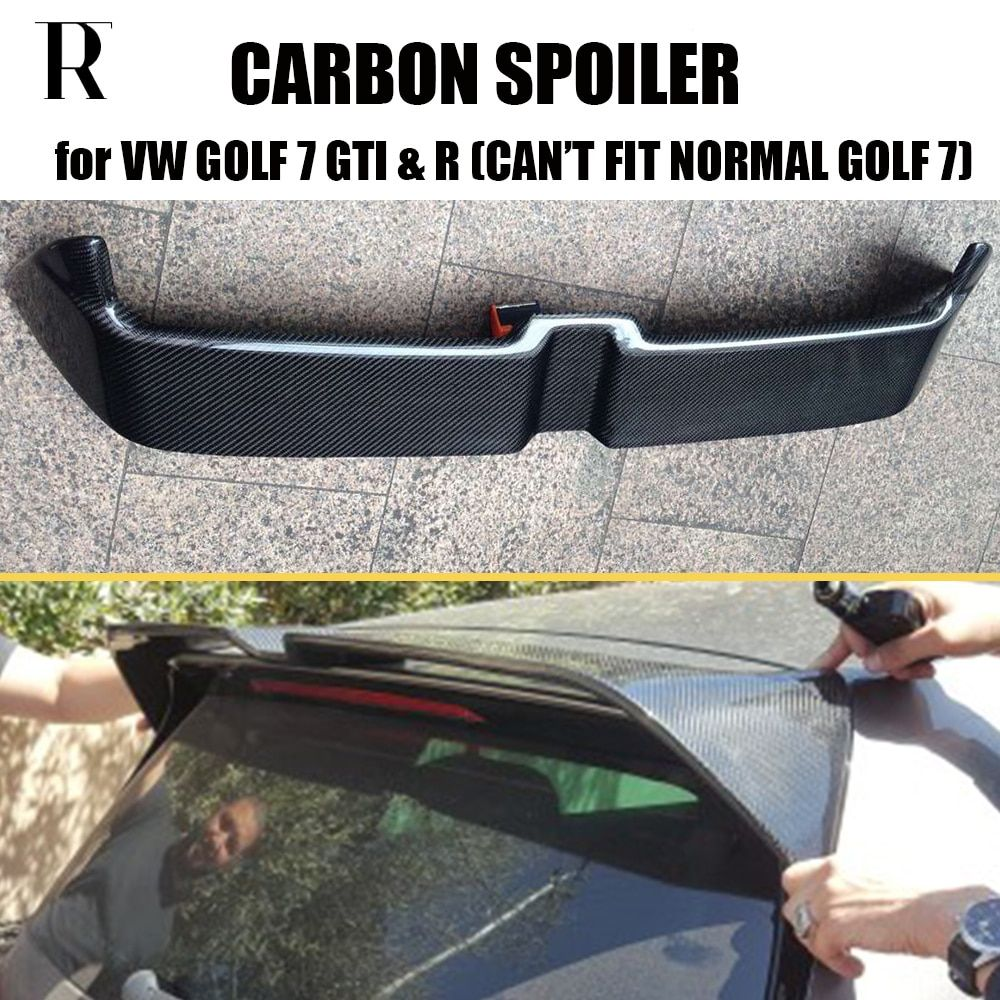 MK7 GTI O Style Carbon Fiber Rear Roof Trunk Wing Spoiler for Volkswagen Golf 7 VII MK 7 GTI & R 2014 2015 2016 2017