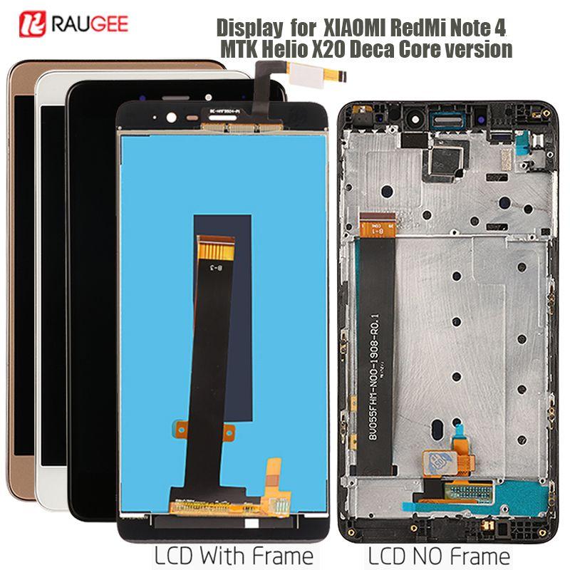 Ecran pour Xiaomi Redmi Note 4 LCD ecran tactile de remplacement pour Redmi Note 4 affichage MTK Helio X20 Deca version Core