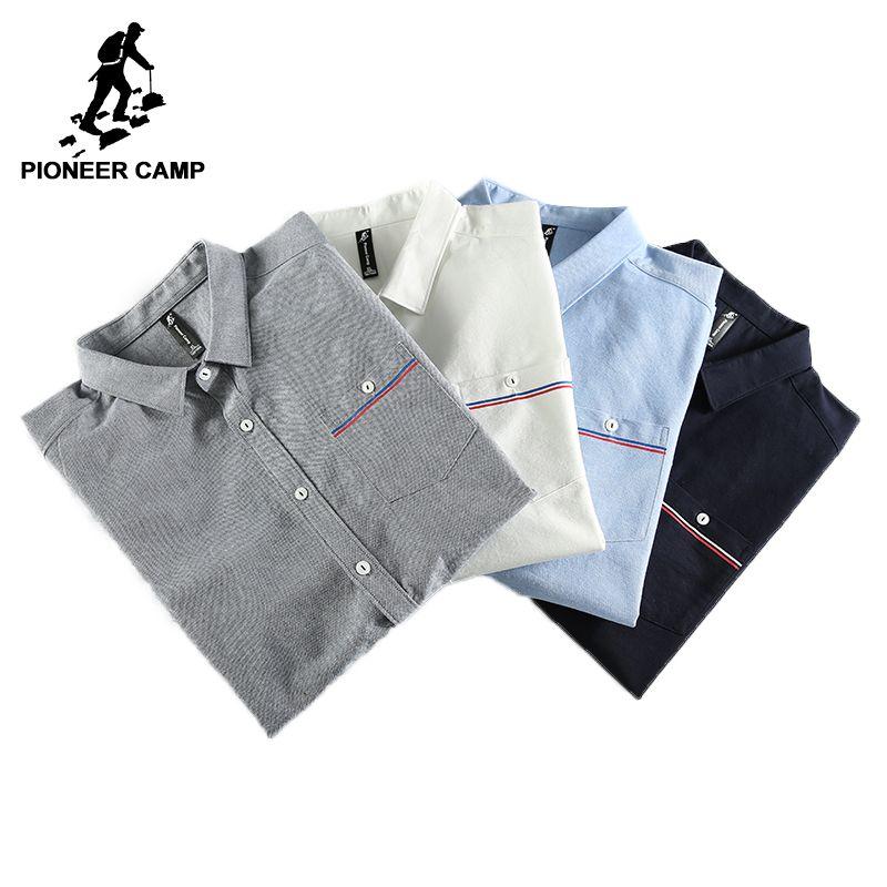 Pioneer Camp Neue Frühling langarm freizeithemd männer marke kleidung social männlich hemd top qualität baumwollhemd ACC705068