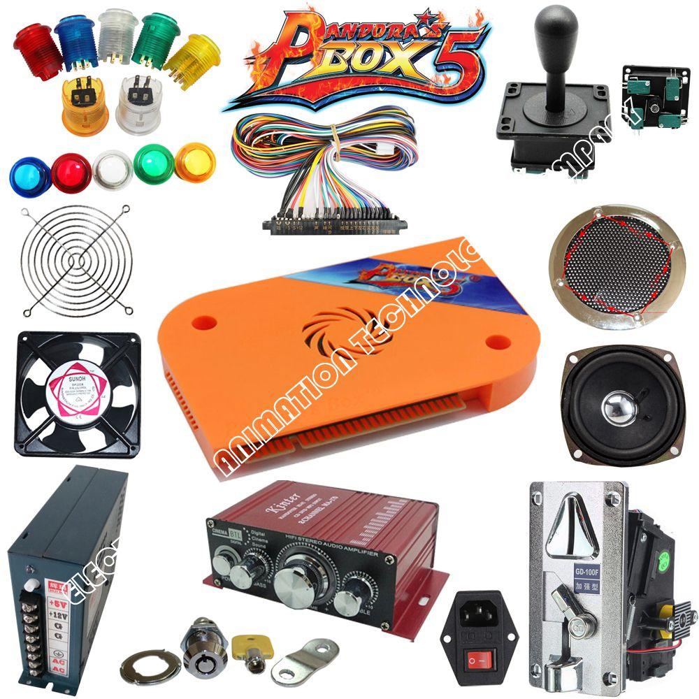Arcade Jamma mame arcade teile kit 2 joysticks 16 tasten 1 jamma kabel hoher qualität und pandora box 5