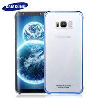 100% Original Samsung S8 S8 Más Caso concha protectora Transparente Ultra Delgado Volver Funda protectora S8 G9550/9500 Borrar cubierta