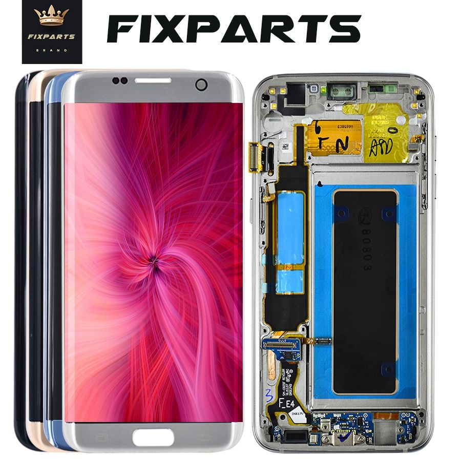 For SAMSUNG GALAXY S7 EDGE G935 G935F LCD Display Touch Screen Digitizer 5.5 FHD For Samsung S7 Edge LCD Pantalla Replacement