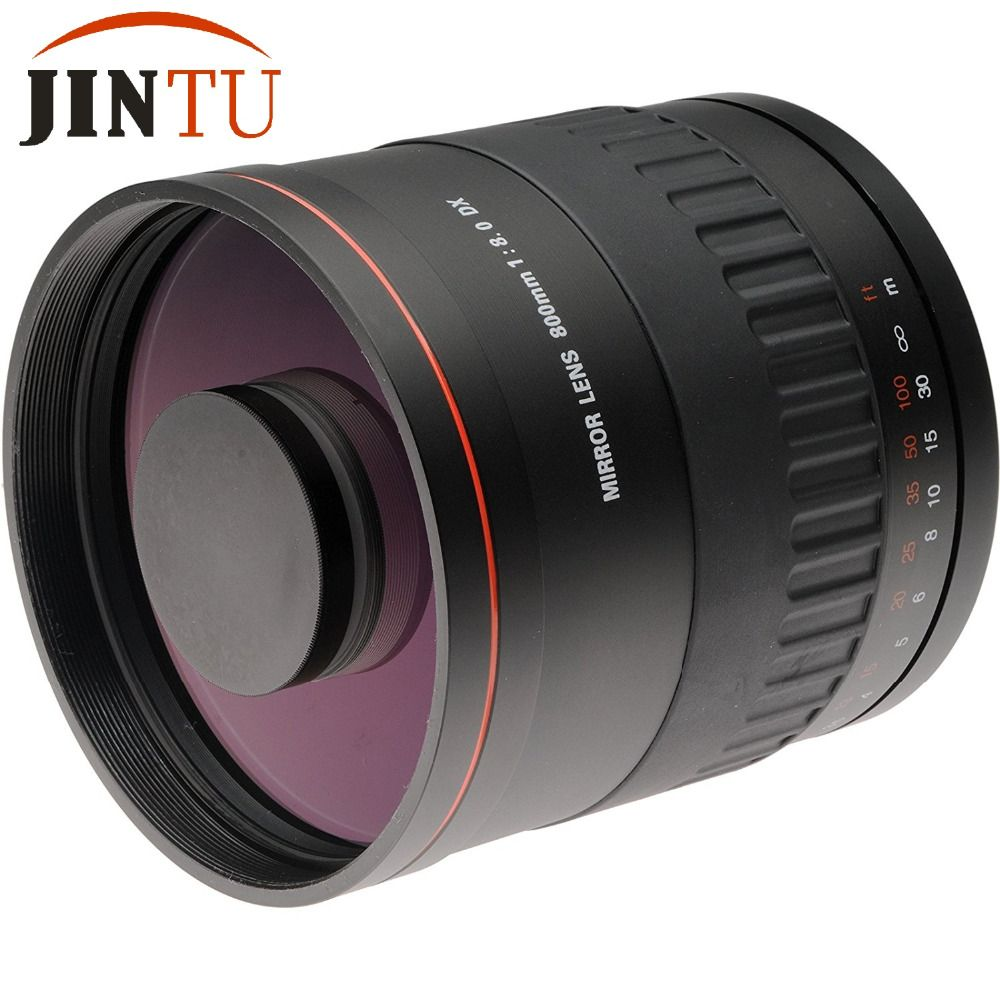 JINTU 900mm f/8,0 Spiegel Tele Manueller Fokus Kamera Objektiv + T2 Adapter Für NIKON D5500 D3500 D70 d90 D80 D700 D3400 D5200 D7500