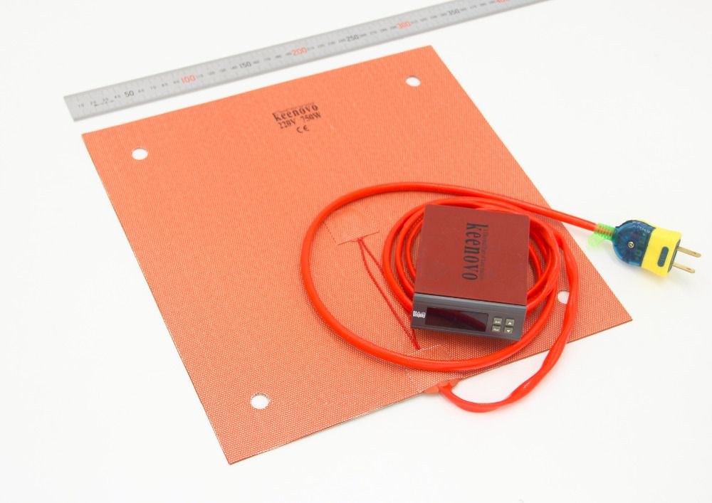 Keenovo Silicone Heater(310mm x 310mm 750W) Creality CR-10 3D Printer Heating Pad+Digital Controller