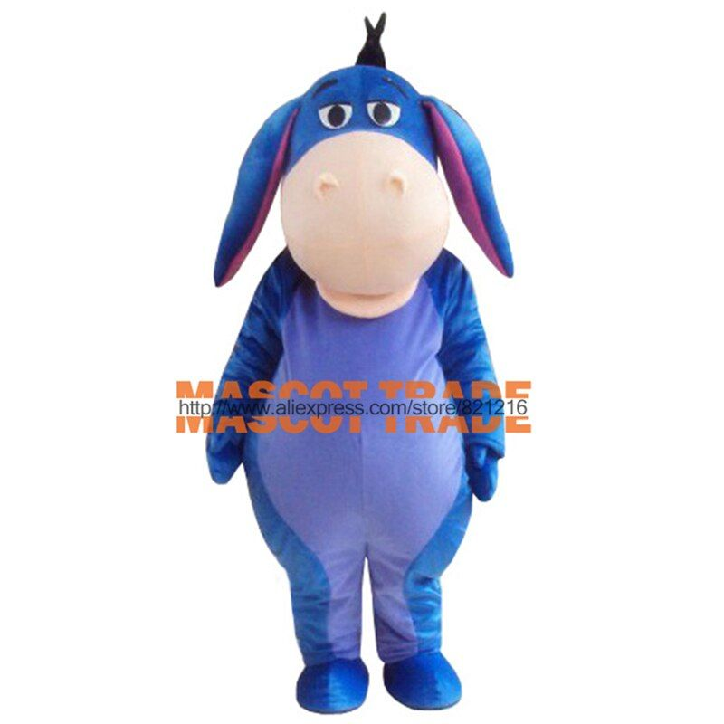 Donkey Cartoon Character Costume Cosplay Mascot Custom Products Free Shipping