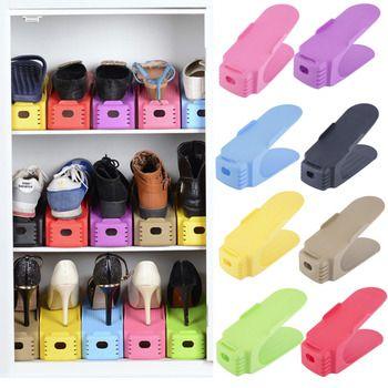 2017 Étagères À Chaussures De Mode Moderne Double De Nettoyage Chaussures Rack De Stockage Salon Pratique Boîte À Chaussures Chaussures Organisateur Stand Plateau