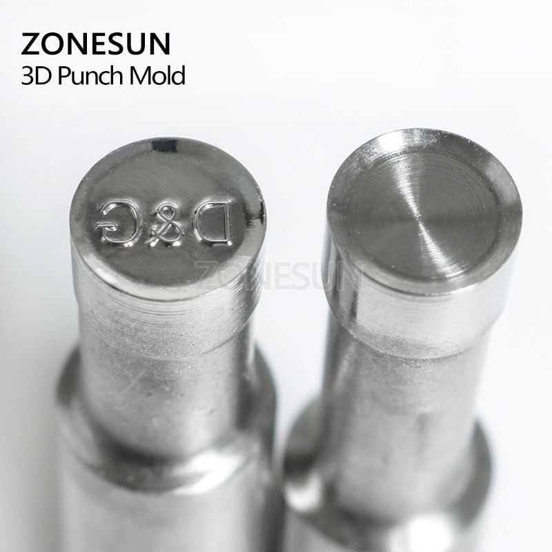 ZONESUN Dshape Table Pill Press 3D Mold Candy Milk Punching Die Custom Logo For punch die Machine TDP0/1.5/3 Free shipping