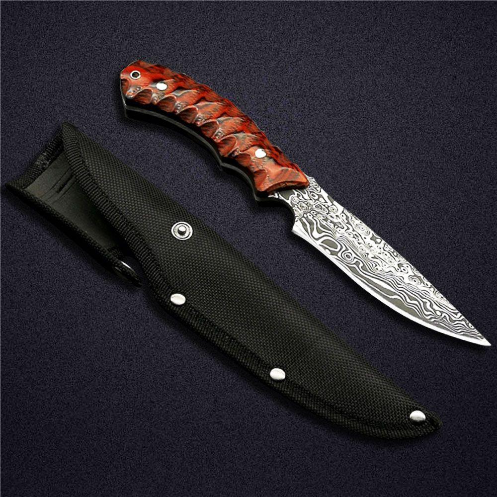 Couteau à lame fixe en acier de Forge 440 de poignée de Micarta rouge de corikeng 58HRC couteaux extérieurs de Camping pour la survie